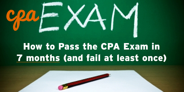 how to pass the cpa exam in 7 months