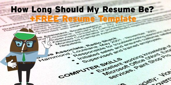 The Bean Counter  How Long Should A Resume Be